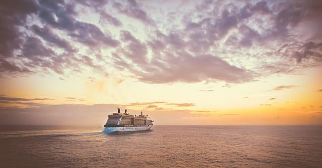 Cruise, Ship, Sunset, Travel, Sea