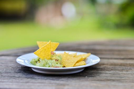 Snack Nachos Guacamole Mexican Food Meal A