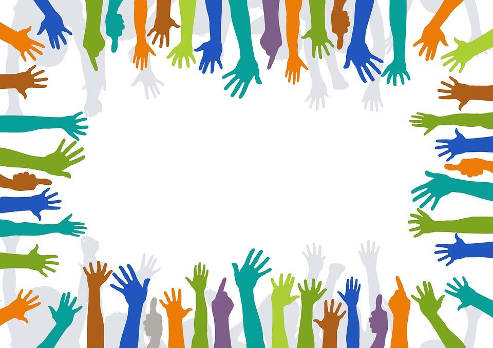 Volontari, Le Mani, Volontaria, Avvolgere, Proteggere