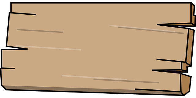 Gambar vektor gratis kayu papan panel tanda