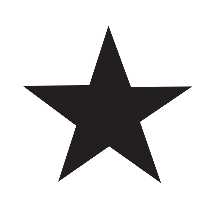 Image result for black rating star