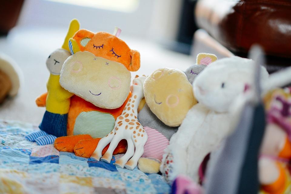 Toys, Cuddly, Stuffed, Several, Animals, Plush, Cute