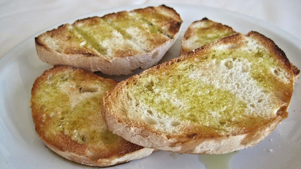 Bruschetta, Knoblauch-Toast, Weißbrot, Italien