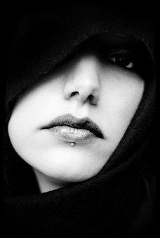 口, 顔, 肖像画, ミズ, 女の子