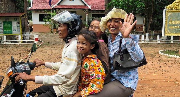 Camboya Asia Ciudad De Siem Riep Motocicle
