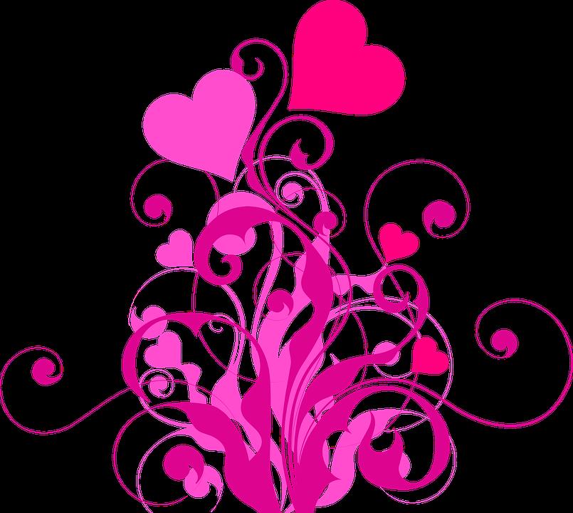 image vectorielle gratuite  coeur  amour  rose  rouge