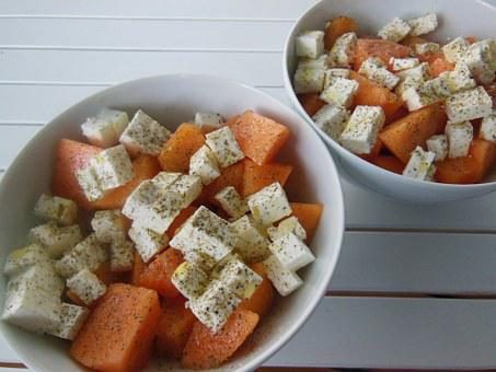 Eat, Melons, Feta, Cheese, Oregano