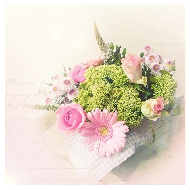 Blumenstrauss Vintage Rosa Kostenloses Foto Auf Pixabay