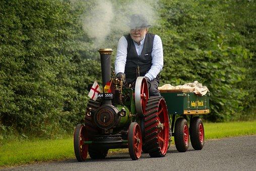Steam, Steam Engine, Water Vapor, Drive