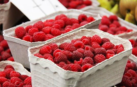 Fruits, Raspberry, Berry, Red, Healthy