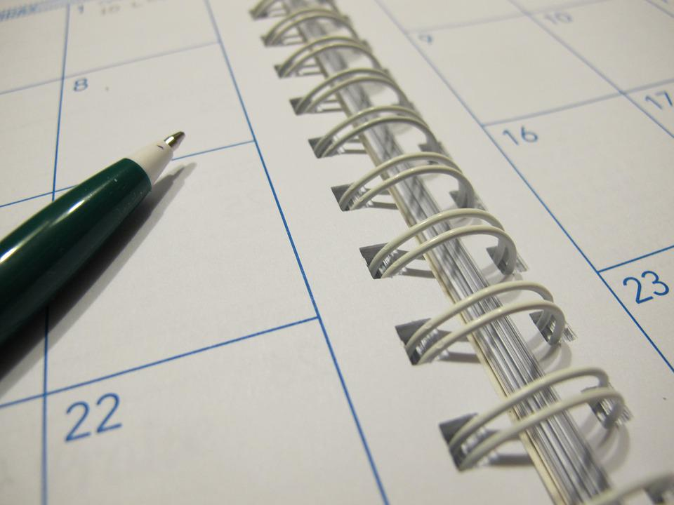 Free Photo Paper Calendar Planner Pen Free Image On