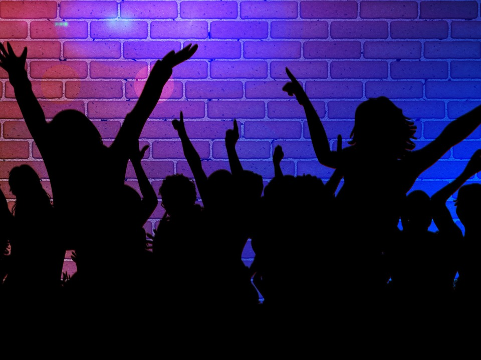 Free illustration silhouette girl dance party free for Disco night club