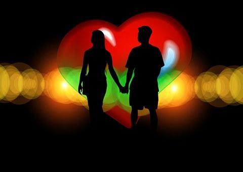 Paire, Silhouette, Amateurs De, Romance