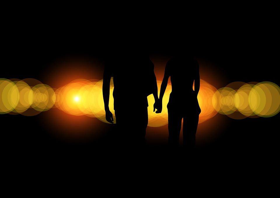 Free illustration: Pair, Silhouette, Lovers, Romance ...
