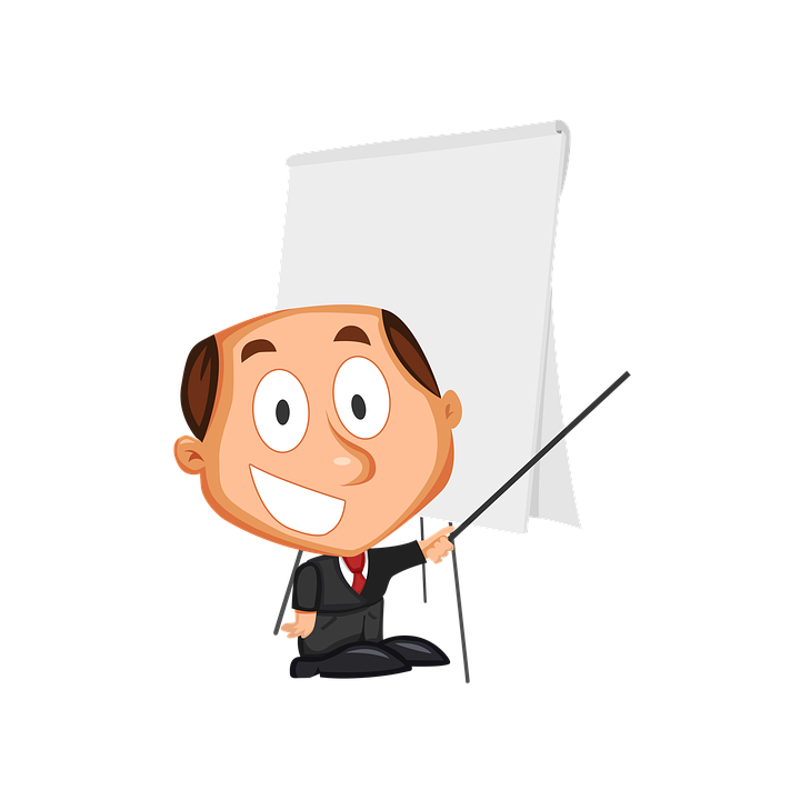 Businessman, Cartoons, Training, Lecture, Presentation