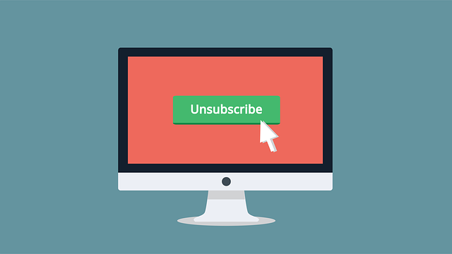 Unsubscribe display button for unsubscribing from email marketing list