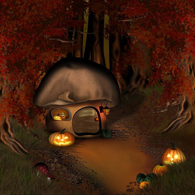 Free Photo Halloween Forest Mushroom House Free Image