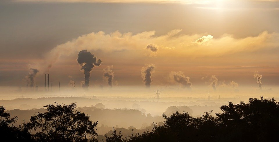 smoke from the industries destroy natural environment