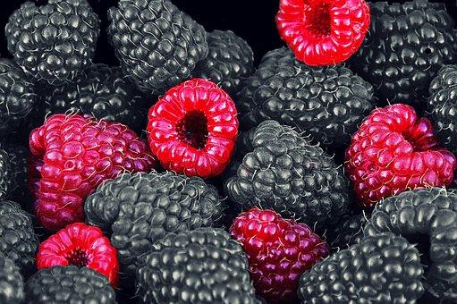 Raspberries, Fruits, Berries, Fruit, Red