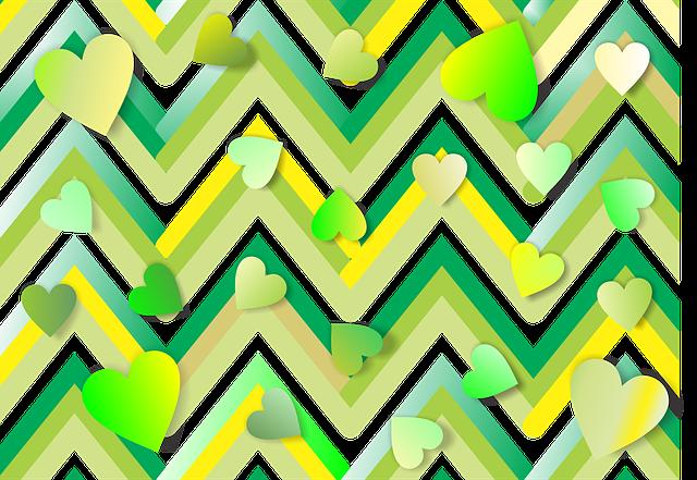 free illustration heart  green  yellow  background free heart vector free illustrator heart vector free cdr