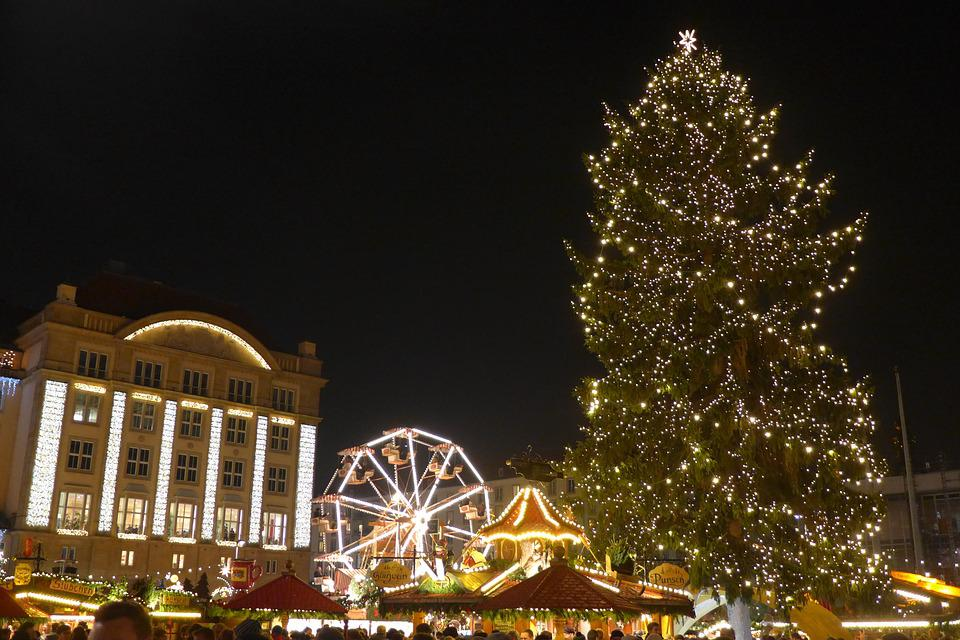 Christmas Market, Dresden, Germany, Christmas Tree