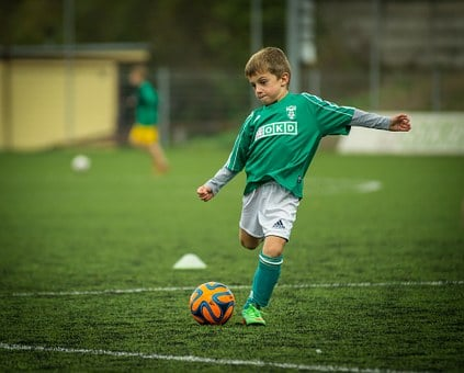 Child, Soccer, Playing, Kick, Footballer