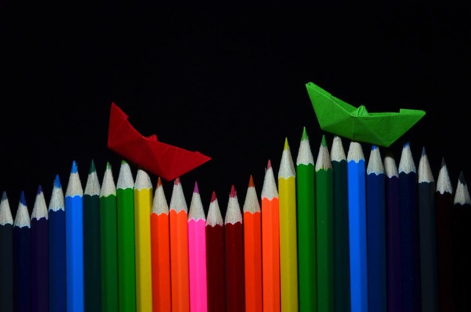 Crayons De Couleur, Stylos, Peinture, Tirage