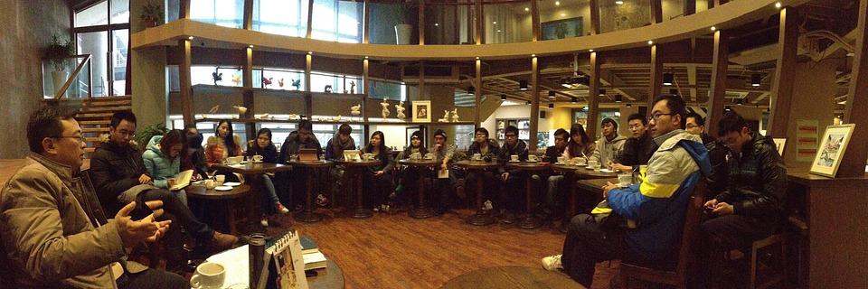 Lectures, Professor, Entrepreneurship, Cafe