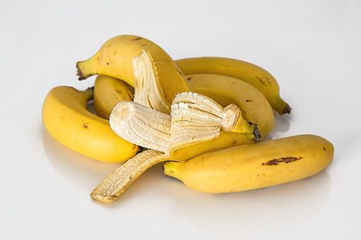 Banana, Tropical Fruit, Yellow, Healthy