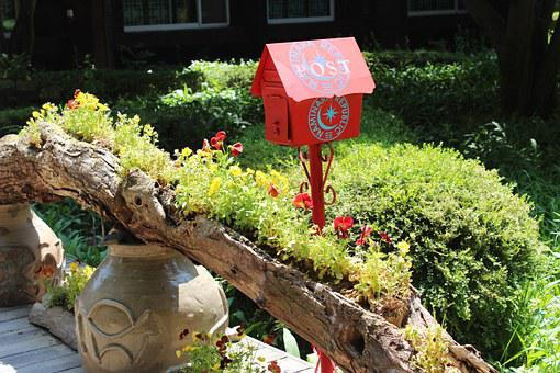 Post, Mail Box, Red Mailbox, Outdoor