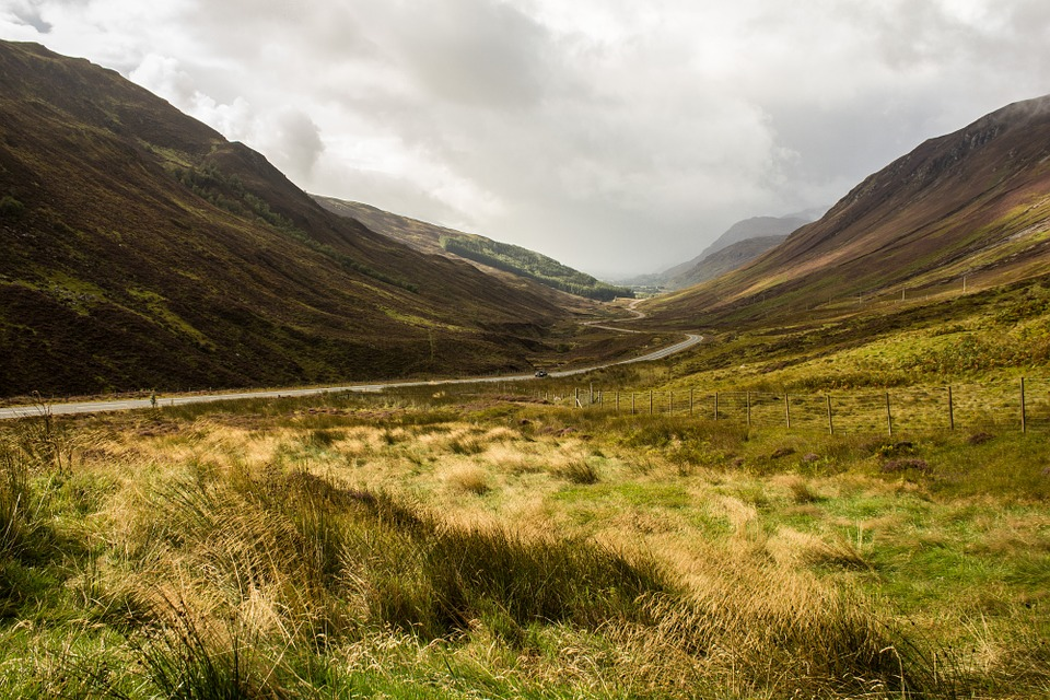 free photo scotland grass landscape valley free