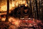 locomotive, composition, photoshop