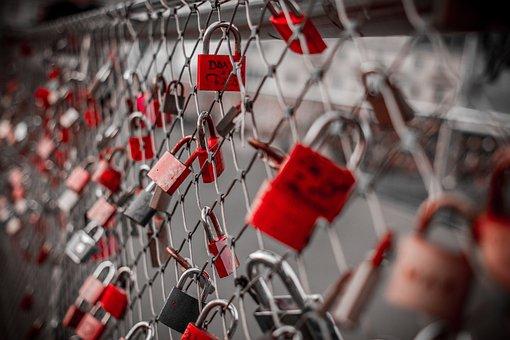 Castles, Fence, Love, Symbol