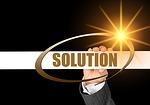 businesswoman, solution, conflict