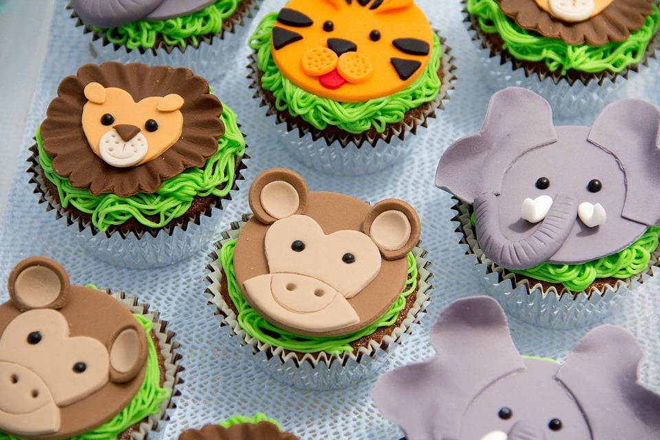 Cakes, Cupcake, Animals, Monkey, Lion, Party, Birthday