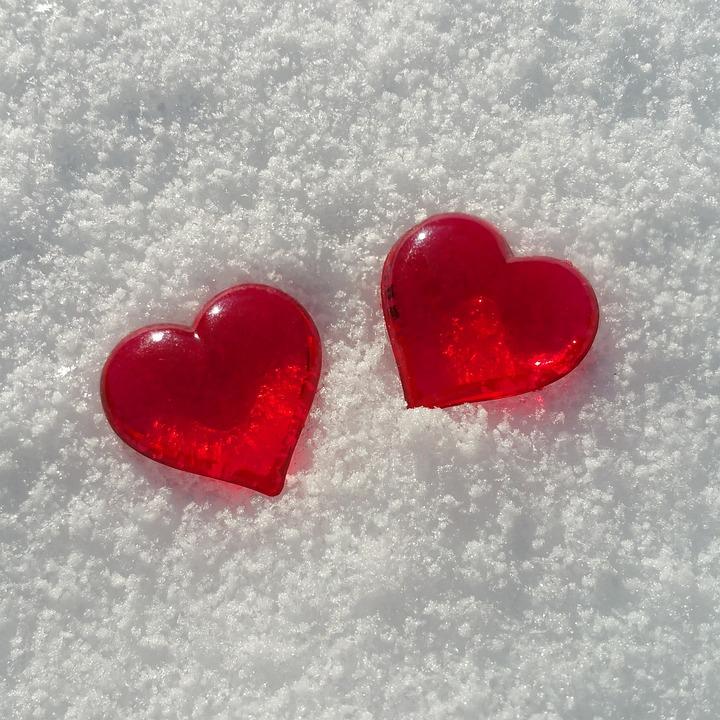 Photo gratuite saint valentin coeur la neige image - Images coeur gratuites ...