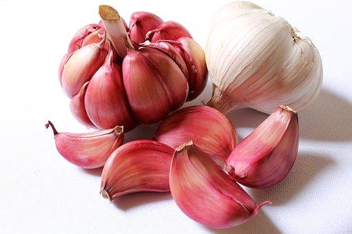 Garlic, Purple Garlic, Head Of Garlic