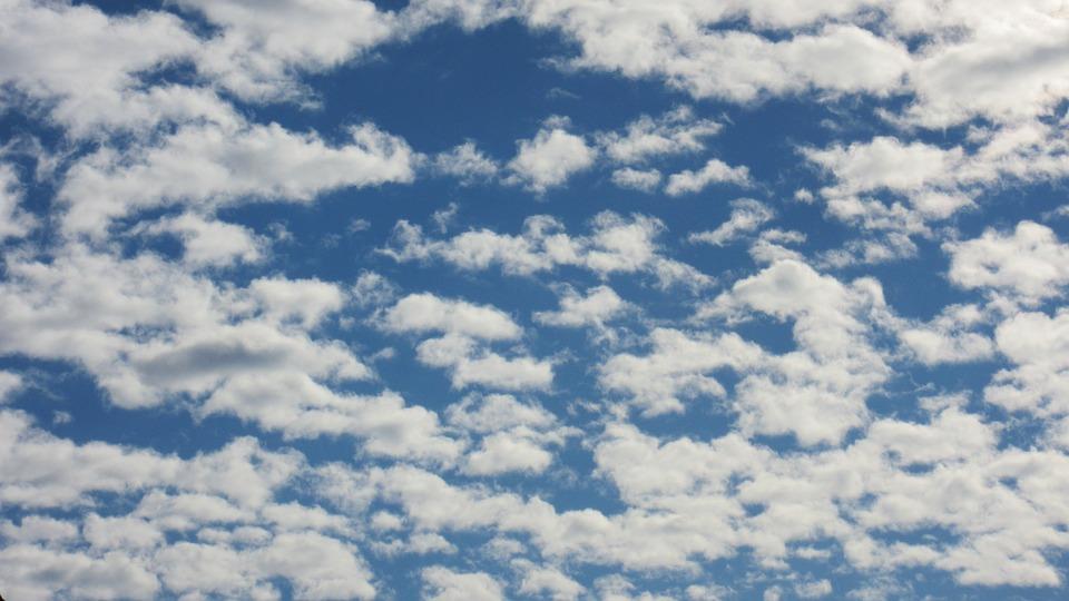 Chmury Altocumulus, Chmury, Niebo, Altocumulus Grzybnia