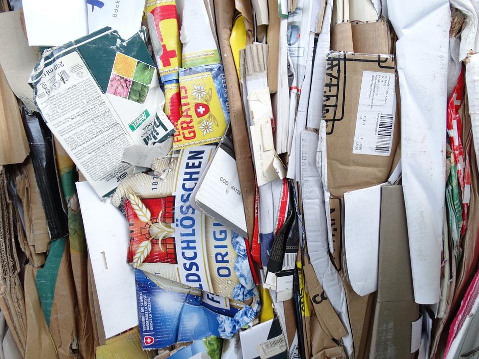 Déchets De Papier, Le Recyclage, En Carton