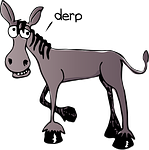 donkey, derpy, cartoon