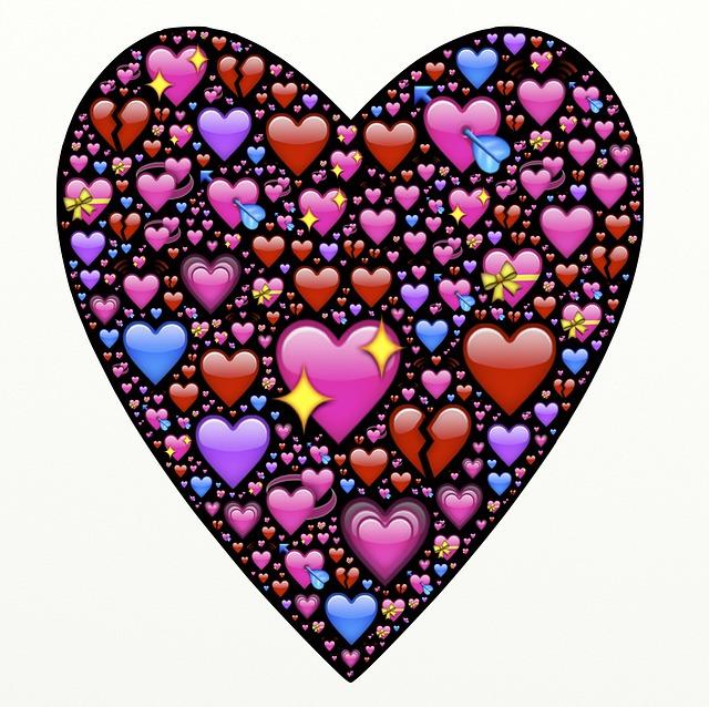 Coeur l 39 amour emoji image gratuite sur pixabay - Coeurs amoureux ...