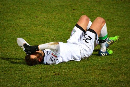 サッカー, けが, スポーツ, 痛み, サッカー選手, 幻滅