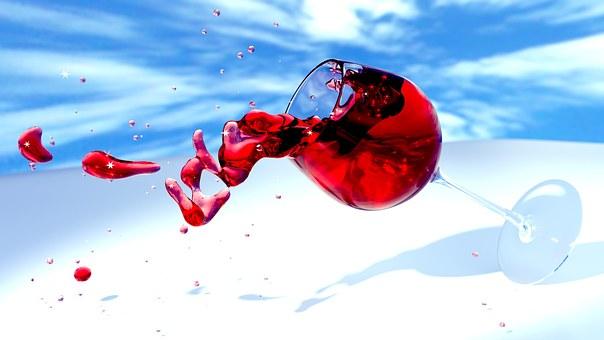 ワイン, ワイングラス, 3 D, ミキサー
