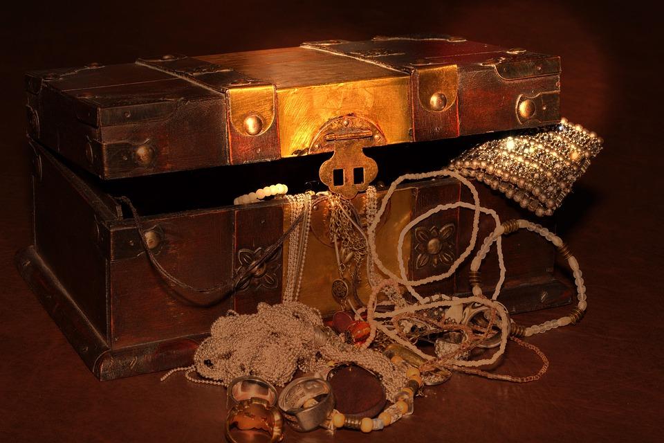 Treasure Chest, Chest, Jewellery, Lighting