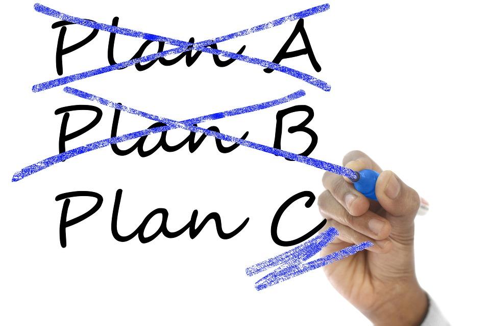 計画, 調整します, 願望, 概念, アイデア, 意思決定, 柔軟性, ガラス, 手, ホワイト ボード, A