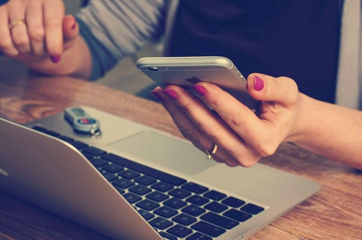 オフィス, 仕事, 会計士, 会計, ノート, 携帯電話, スマート フォン
