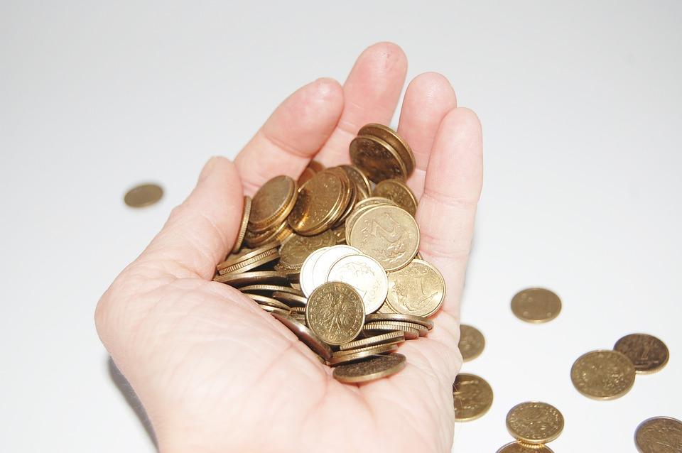 お金, 手にお金, セーフティ ボックス, コイン, 支払い, 通貨, ファイナンス, 支払う, ゴールド