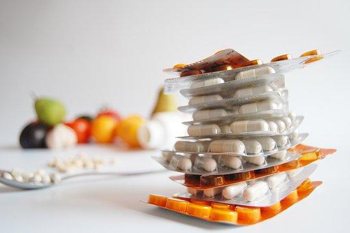 Zdraví, Lék, Vitamíny, Tablety, Nemoc