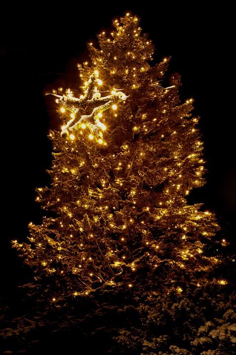Kerstmis Verlichting Kerstboom · Gratis foto op Pixabay