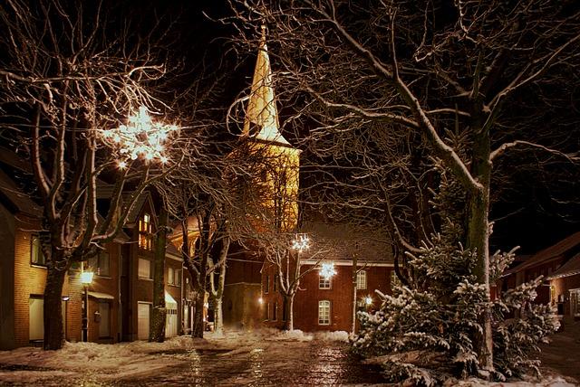 free photo christmas church night advent free image